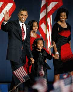 President-elect Barack Obama and 