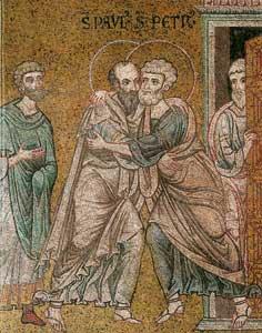 L'abbraccio tra Pietro e Paolo