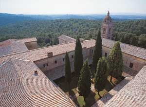 A shot of the Lecceto hermitage, Siena
