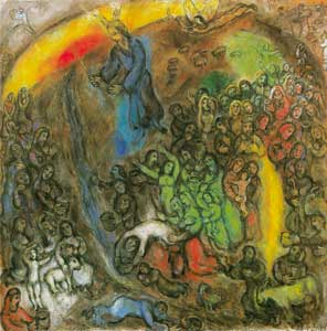 "<I>The struck rock</I>, Marc Chagall, ""Marc Chagall"" National Museum of the Biblical Message, Nice, France"