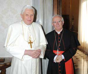 Cardinal Cañizares Llovera in audience with Benedict XVI on 30 January 2009 [© Osservatore Romano]