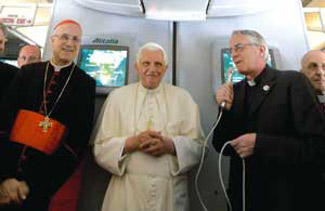 The Pope at the press conference aboard the plane, 23 March [© Associated Press/LaPresse]