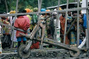 2008. Displaced people near Goma [© Afp/Grazia Neri]