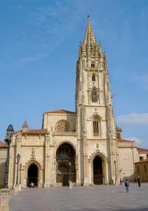 The San Salvador Cathedral in Oviedo 