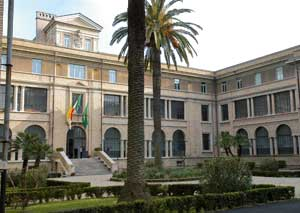 The facade of the College