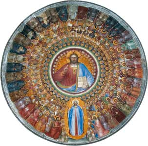 The fresco of Giusto de' Menabuoi, XIV century, which adorns the dome of the Baptistry of Padua Cathedral <BR>[© Cultural Heritage Office of Padua diocese]