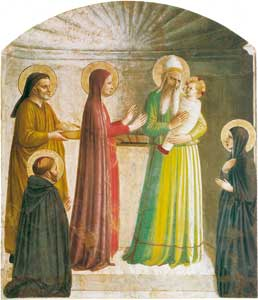 <I>The Presentation in the Temple</I>, by Fra Angelico in the Convent of San Marco in Florence