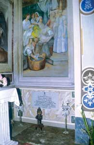 Cecilia's tomb in the Church of San Tolomeo where the girl's body lies still intact