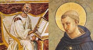 Saint Augustin et Saint Thomas d'Aquin, des fresques de Giotto