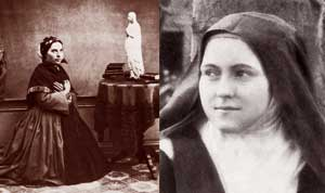 Saint Bernadette Soubirous and Saint Theresa of Lisieux