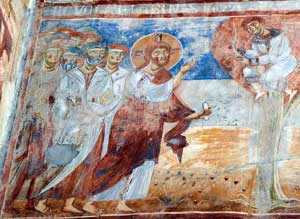 <I>Jesus and Zacchaeus</I>, fresco in the Basilica of Sant'Angelo in Formis, Capua (Caserta)