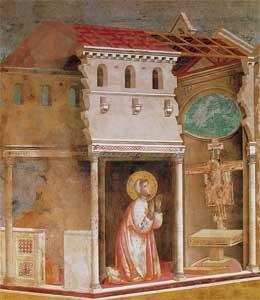 <I>Francesco prega dinanzi al Crocifisso di San Damiano</I>, Giotto nella Basilica Superiore di Assisi