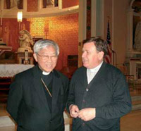 Father Walter Tonelotto with Cardinal Joseph Zen Ze-kiun