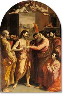 <I>Gesù risorto e Tommaso</I>, Santi di Tito (1536-1603), Cattedrale di Sansepolcro, Arezzo