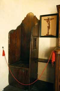 Il confessionale del santo Curato d'Ars [© Romano Siciliani]