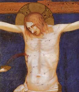 Detail of the <I>Crucifixion</I>, Giotto and workshop, Lower Basilica of Saint Francis, Assisi