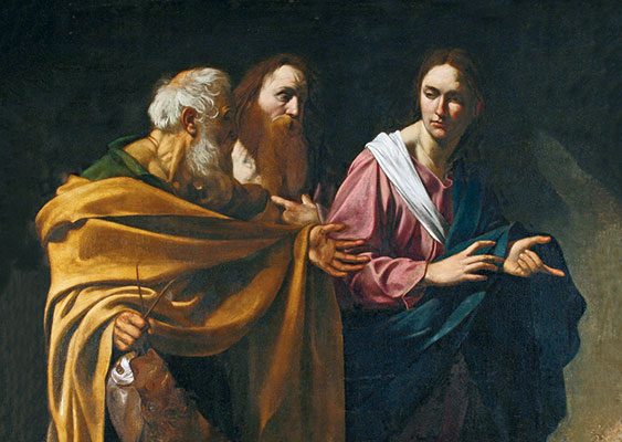 <I>La vocazione di Pietro e Andrea</I>, Caravaggio, Royal Gallery Collection, Hampton Court Palace, Londra