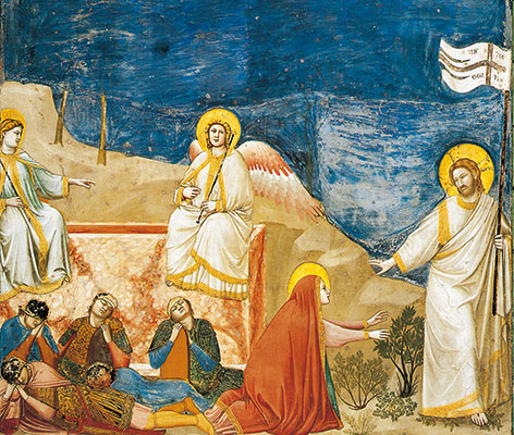 The risen Jesus and Mary Magdalene, Giotto, Scrovegni Chapel, Padua