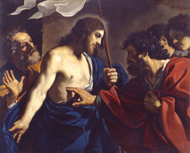 <I>The incredulity of St Thomas</I>, Giovan Francesco Barbieri, known as Guercino, Vatican Museum Art Gallery