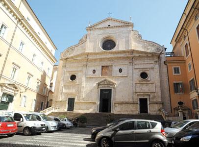 La chiesa di Sant'Agostino, nell'omonima piazza romana <BR>[© Paolo Galosi]