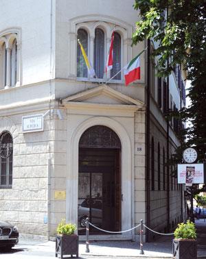 L'ingresso del Collegio in via di Porta Pinciana <BR>[© Paolo Galosi]