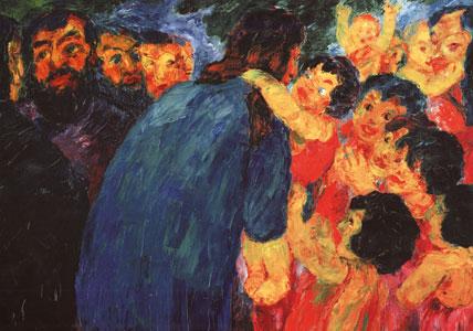 <I>Cristo tra i fanciulli</I>, Emil Nolde, Musem of Modern Art, New York