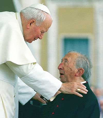 The last meeting of Don Giussani with John Paul II, Saint Peter's Square, 30 May 1998