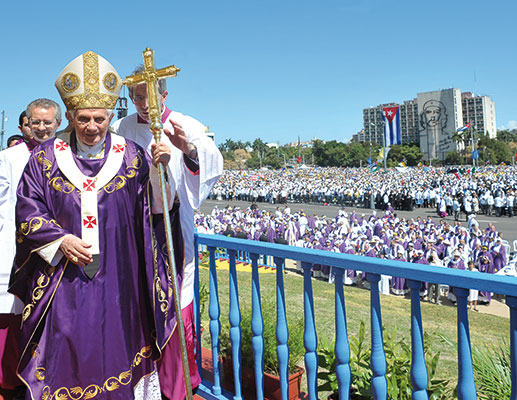 The Mass celebrated by Benedict XVI in the Plaza de la Revolución in Havana, 28 March [© Osservatore Romano]