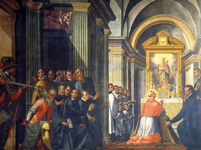 <I>St Charles miraculously saved from attack</I>, Giovanni Battista della Rovere, known as il Fiammenghino, Milan Cathedral