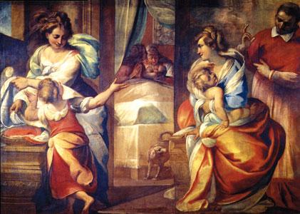 <I>Das Wunder von Carlino Nava</I>, Giulio Cesare Procaccini, Mailänder Dom.