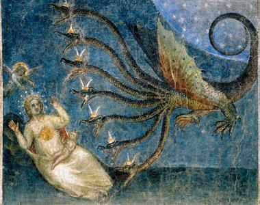 La bestia che vuole divorare il bambino partorito dalla donna vestita di sole, Battistero di Padova [© Archivi Alinari, Firenze]