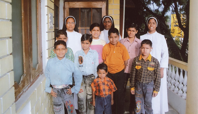 The home for HIV positive children run by the Carmelite Sisters of Ujjain, India