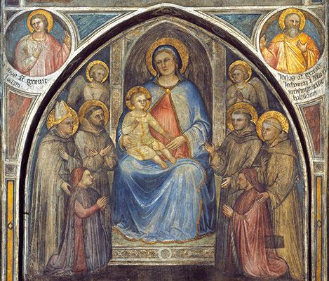 <I>Our Lady enthroned</I>, Giusto de' Menabuoi, Basilica of St Anthony in Padua