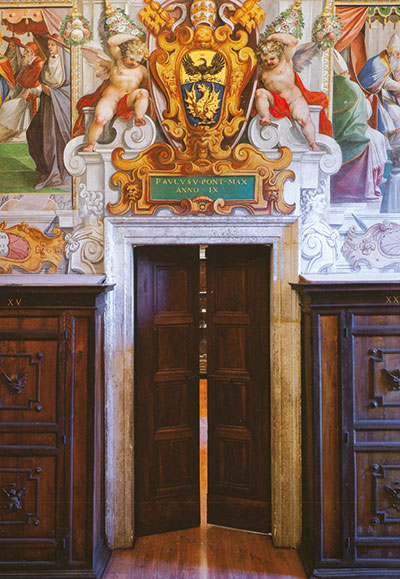 The Hall of musician Angels, on the first floor of the Vatican Secret Archive [© Palombi Editore]