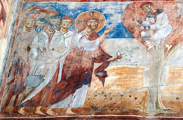 <I>Jesus und Zacchäus</I>, Detail, Basilika Sant`Angelo in Formis, Capua (Caserta). [© Bruno Brunelli]