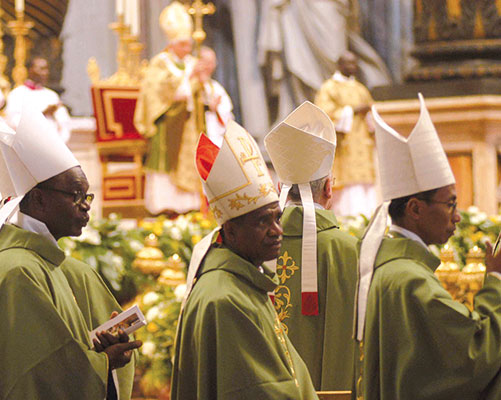 The opening ceremony of the Second Special Assembly for Africa of the Synod of Bishops, St Peter's Basilica, 4 October 2009 [© Paolo Galosi]