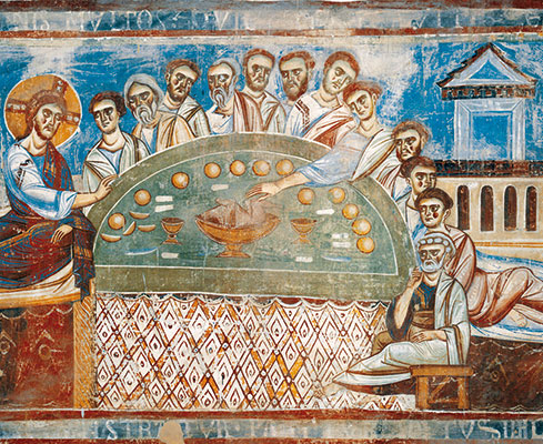 The Last Supper, Basilica of Sant'Angelo in Formis, Capua (Caserta)