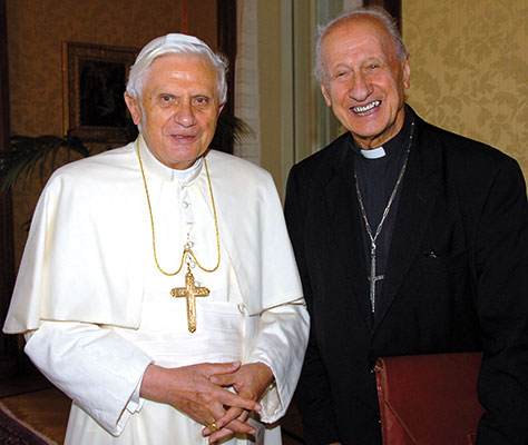 Benedikt XVI. mit Kardinal Etchegaray. [© Associated Press/LaPress]