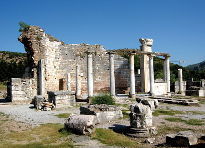 "The ruins of the ancient Basilica of Our Lady of Ephesus, the first church in the world dedicated to the Virgin Mary. Inside it, in 431, the Council which proclaimed Mary ""Mother of God"" was held [© Lorenzo Biondi]"