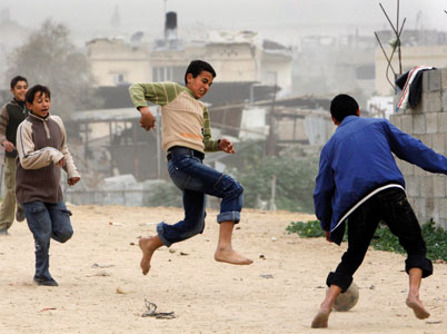 Palestinian children in Gaza <BR>[© Associated Press/LaPresse]