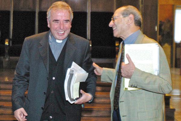 Don Giacomo Tantardini with Pietro Calogero