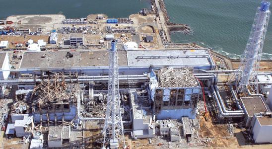 La centrale giapponese di Fukushima gravemente danneggiata dal terremoto dell'11 marzo scorso [© Associated Press/LaPresse]