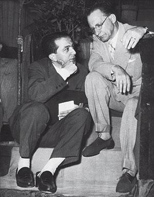 Alcide De Gasperi with Giulio Andreotti