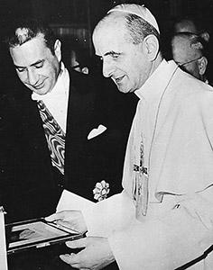 Aldo Moro con Paolo VI
