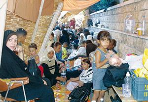 Famiglie di profughi palestinesi in Libano